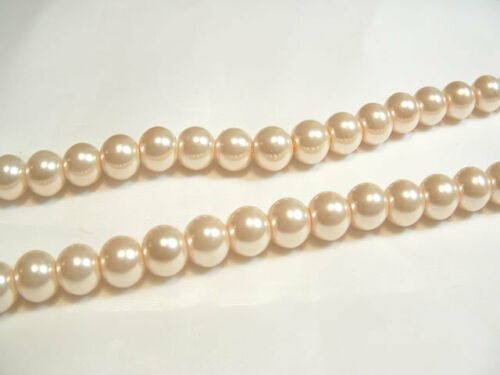 85 pcs x Glass Pearl 10mm Round Beads #95E Pale Caramel