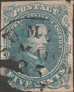 Confederate #4 Five Cent Stamp