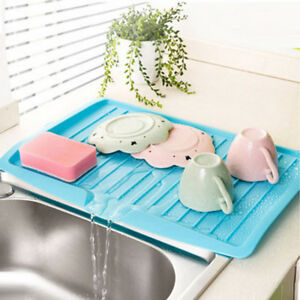Plastic-Worktop-Dish-Drainer-Drip-Tray-Large-Kitchen-Sink-Drying-Rack-Holder-New