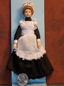 Dollhouse Miniature Doll Woman Lady Maid 1:12 One inch scale H82 Dollys Gallery