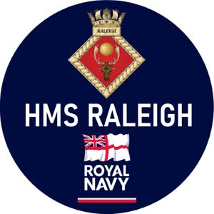 ROYAL NAVY HMS RALEIGH BADGE
