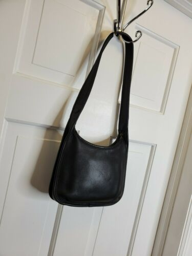 Coach VINTAGE MINI ERGO BLACK LEATHER BAG - image 1