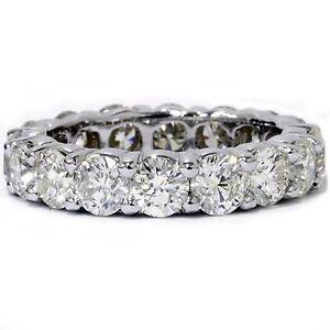 3-99ct-Round-Diamond-Engagement-Wedding-Band-Eternity-Ring-Solid-14k-White-Gold