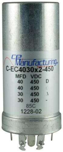 CE Manufacturing Multisection Mallory FP Can Capacitor 40//40//30//30µf @ 450VDC