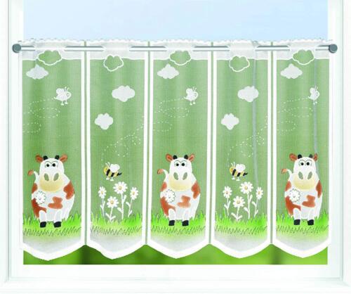 Bistrogardine Küchengardine KUH+BIENE 50x145 cm individuell in Breite kürzbar