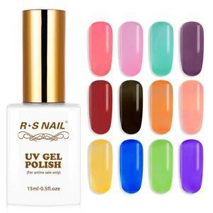 RS-Nail-Gel-Nail-Polish-UV-LED-Varnish-Soak-Off-Glass-Transparent-Colours-15ml