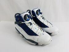 3a336cf3ea68a0 Air Jordan 6 SIX Rings White French Blue Flint GREY 322992-141 Size 10.5