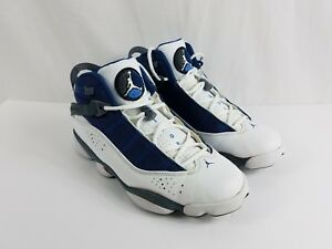 detailed look 94662 a3059 Details about Air Jordan 6 SIX Rings White French Blue Flint GREY  322992-141 Size 10.5