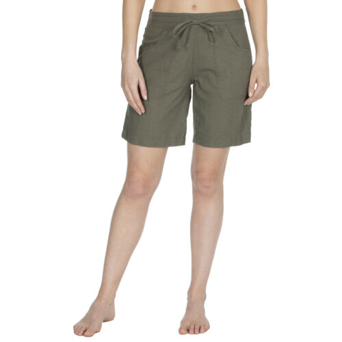 NEW Ladies Linen Casual Summer Beach Shorts with Short and Knee Length Designs