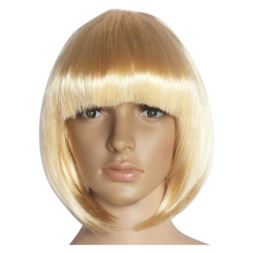 14 Colors Party Straight Short Bob Hair Wigs Halloween Costume Synthetic fiber