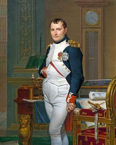 Napoleon Bonaparte French Painting War Military History Real Canvas Art Print