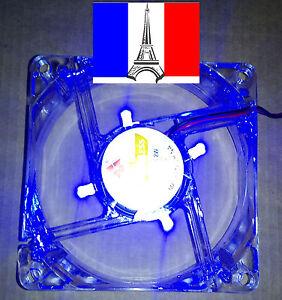 Ventilateur-4-LED-bleu-fan-PC-80x80-x-25-mm-12V-4pin-molex-male-femelle-x2
