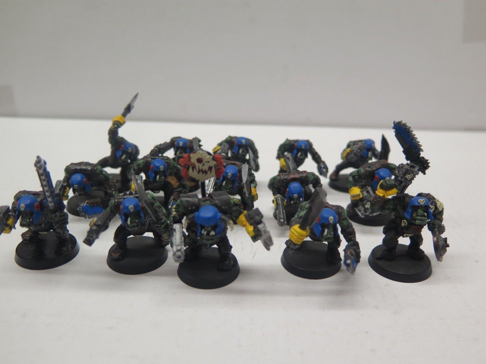 moda GW Warhammer 40K in plastica plastica plastica Nobz Squadra Blu (15) PRO PAINTED  la migliore moda