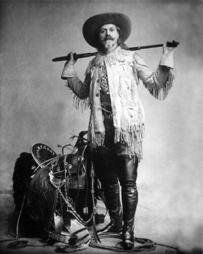 1870 Showman BUFFALO BILL CODY Glossy 8x10 Photo Vintage Print Portrait