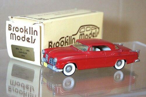 Brooklin Modèles Brk 19 1955 Chrysler 300 C C300 Coupé Rouge en Boîte Mq