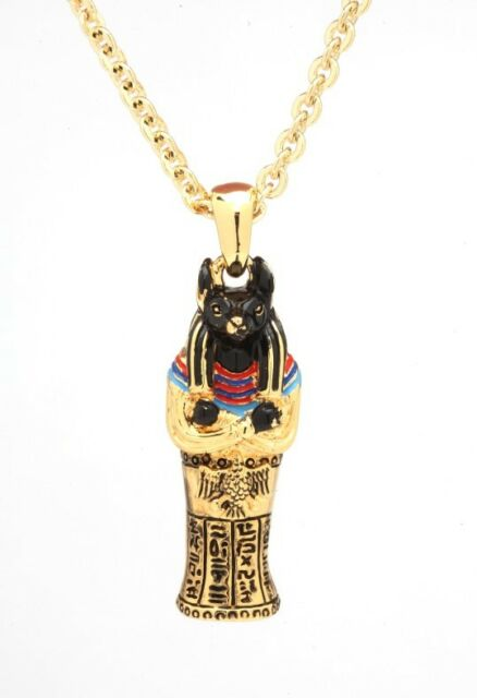EGYPTIAN GOD ANUBIS COFFIN NECKLACE PENDANT JEWELRY.PREMIUM QUALITY