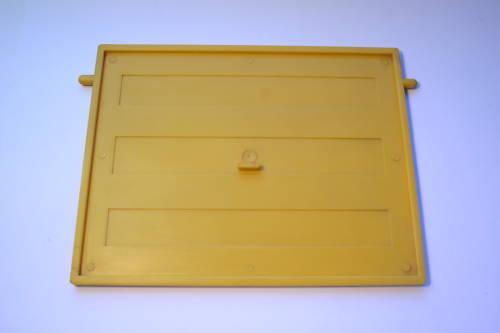 Casa De Muñecas Moldeado Puerta De Garaje Amarillo 1//16 escala W//2 Lugs Para Top Swivel Fix