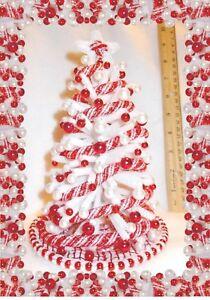 NEW-OOAK-8-034-LIGHTED-1-12-WHITE-DOLLHOUSE-MINIATURE-CHRISTMAS-TREE-HAND-MADE-150