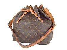 Authentic LOUIS VUITTON Petit Noe Monogram Shoulder Tote Bag Purse #26381B