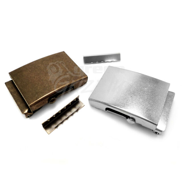 Plain Belt Buckle nickel plated set for 40 mm Webbing Repair DIY - AVA