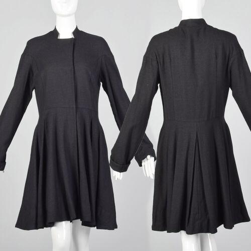 Medium Gary Graham 2000s Wool Princess Coat Charc… - image 1