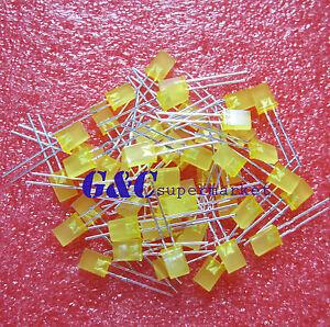 100PCS 2x5x7mm 2*5*7MM Rectangle LED Yellow Colour Yellow Light Emitting Diode