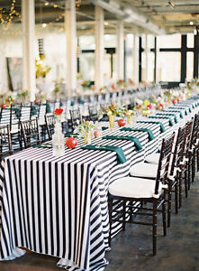 Phenomenal Details About 5 Black And White Striped 90X132 Tablecloth 1 Inch Stripe Wedding Decor New Home Interior And Landscaping Synyenasavecom