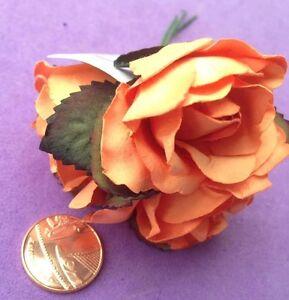 6 x large orange paper flowers roses embellishments wedding uk image is loading 6 x large orange paper flowers roses embellishments mightylinksfo