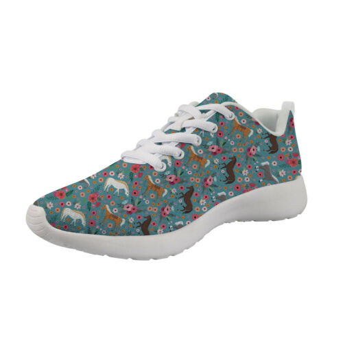 Horse Floral Shoes Womens Sport Sneakers Running Wedge Students Driving Fitness