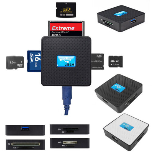 High Speed USB3.0 All in 1 SD TF CF XD M2 MS Flash Memory Card Reader for Laptop
