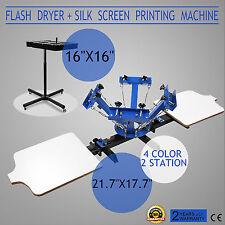 Vevor Screen Printing 4 Color 2 Station Press Kit Diy Printer Flash Dryer Tools