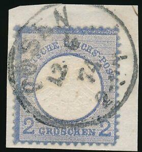 D-Reich-Nr-20-gestempelt-K1-POSEN-12-6-74-auf-Briefstueck-52158