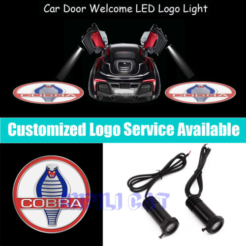 2x 3D Cobra Logo Car Door Projector LED Light for New  Shelby GT500 350