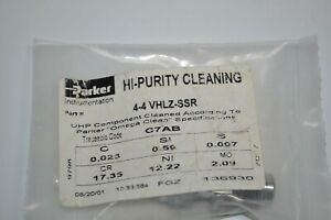 NEW-Parker-Stainless-Steel-VacuSeal-Connector-HI-Purity-Cleaning-4-4-VHLZ-SSR