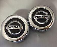 2 (TW0) NEW NISSAN Pathfinder Frontier wheel center hub caps, 40315 89P15 CHROME