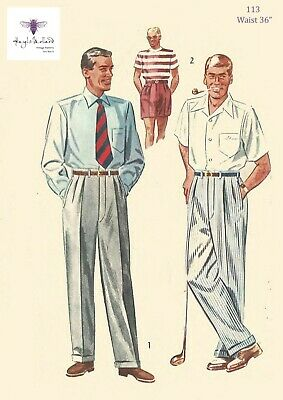 "R929 1950s Vintage Sewing Pattern B34/"" PANTS /& SHORTS"