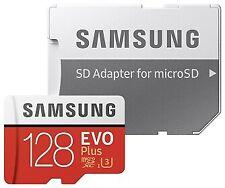 SAMSUNG 128 GB EVO Plus microSDXC UHS-I U3 100MB-s FHD & 4K UHD + SD-Adapter