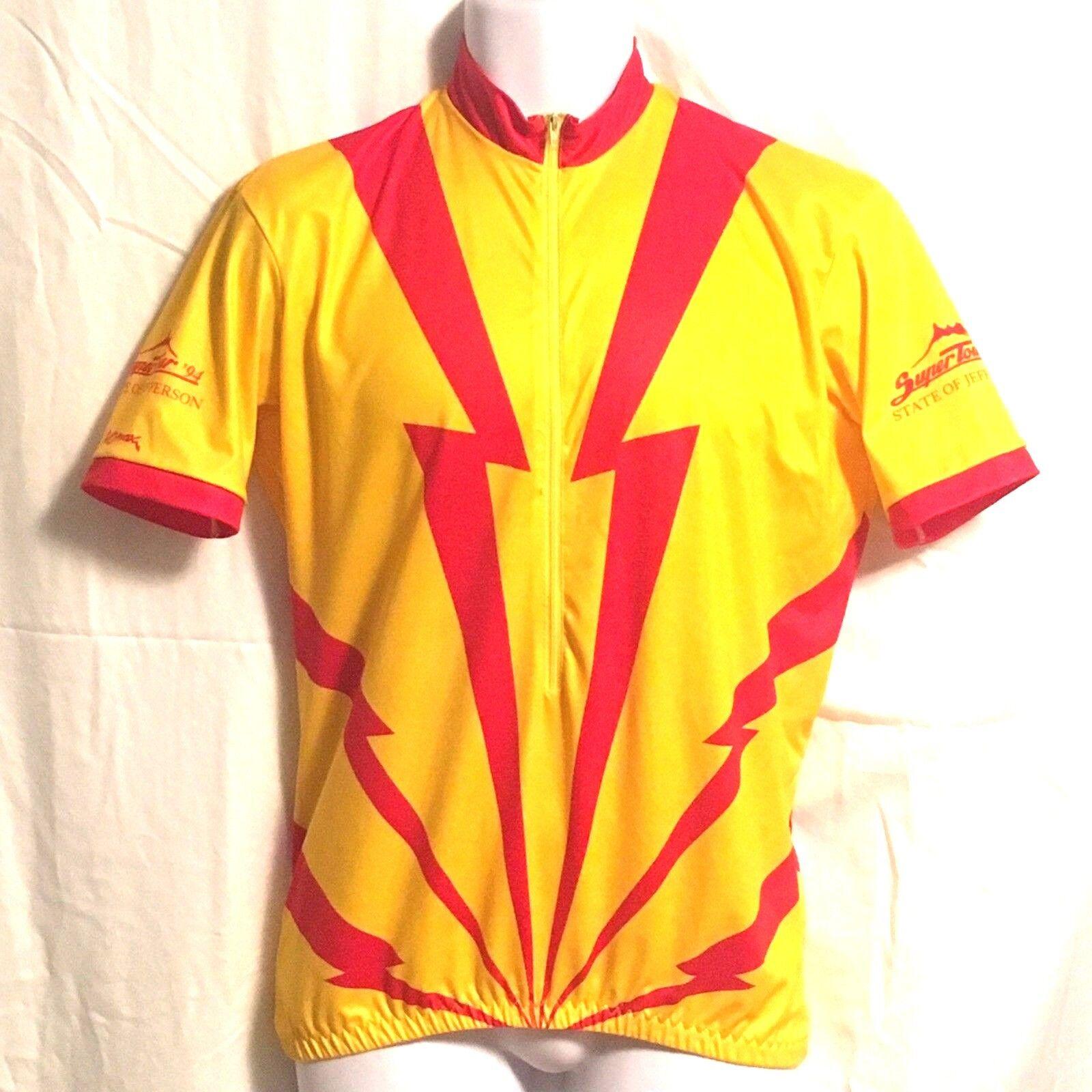 súper circuito de camisetas de bicicleta vomax retro 1994 Estado de relámpago Jefferson LG