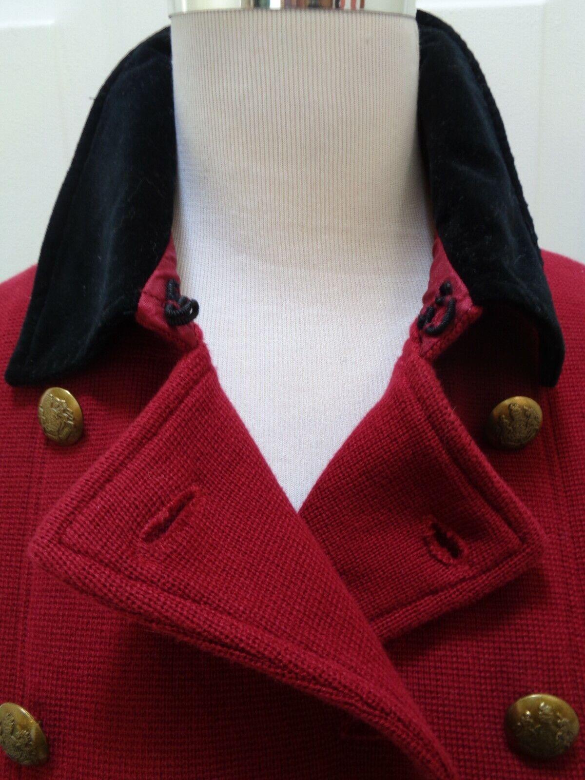 RALPH LAUREN CRANBERRY RED  KNIT VELVET COLLAR EQ… - image 4
