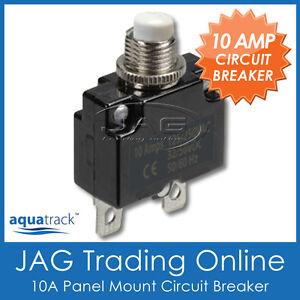 1x 12v~24v 10a white button circuit breaker panel mount auto boat