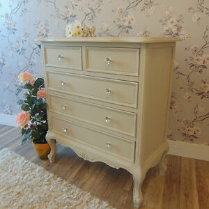 Grey Chest Of Drawers French Ornate Bedroom Furniture Shabby Vintage Chic Home Ebay