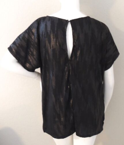 New! BZBZ Black Matte Sequins Short Sleeve Tunic Top Plus 1X 2X 3X 4X 5X 6X