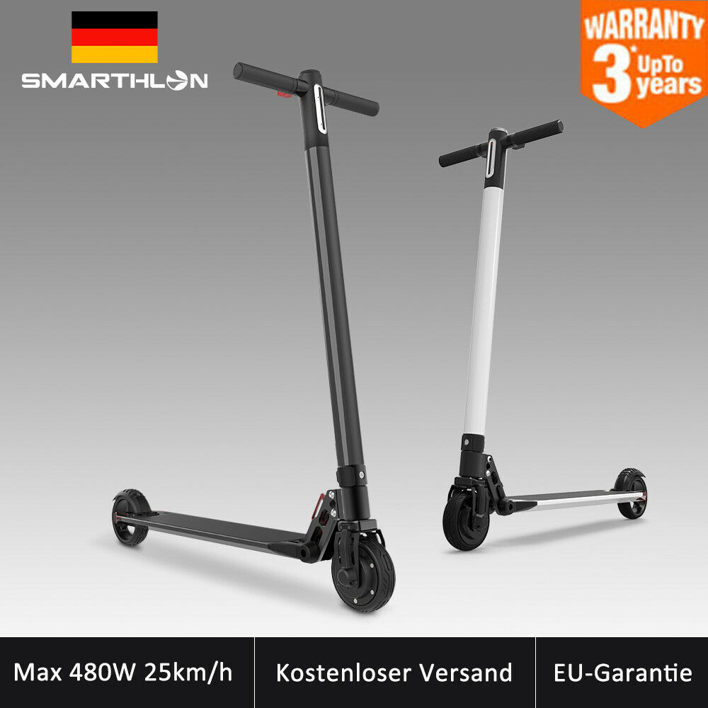Folding Max 480Watt 20km h Electric Scooter E-scooter Aluminum LED 2 Speed