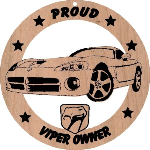 Dodge Viper Late Model Wood Ornament Engraved