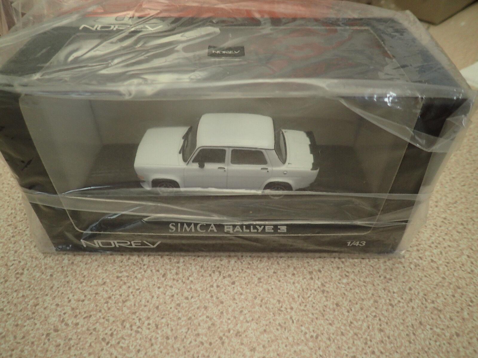 NOREV 571017 Simca 1000 Rallye 3 White Factory Sealed