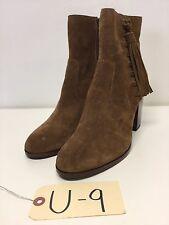 U9 NEW Frye Myra Tassel Lace Chestnut Suede Ankle Boots Womens Size 9