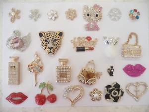 3D-Diamantes-Bling-Rhinestone-Alloy-DIY-Phone-Case-Handbag-Dress-Flower-Gold-UK