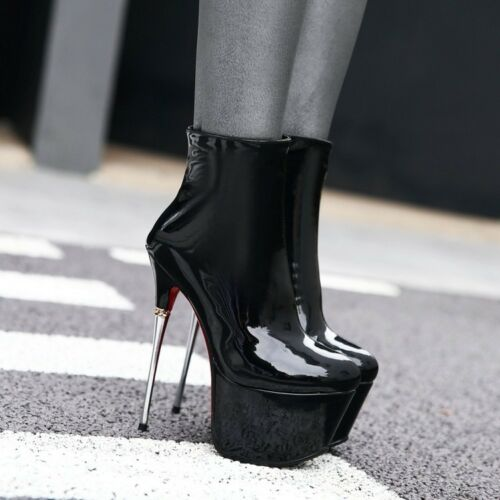 da donna tacchi lucido in alti Scarpe con tacco lucida con vernice Hxq56nCdw