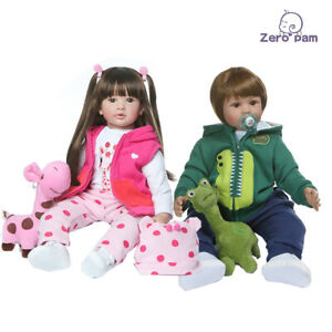 Real Looking Reborn Baby Dolls 2pcs Girls Boys Silicone Babies 3 6 Month Clothes Ebay