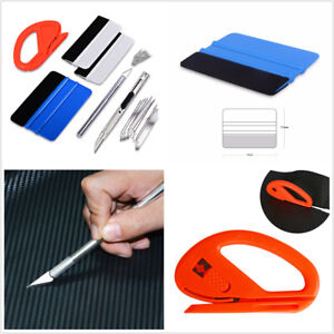 8IN1 Tint Cleaning Squeegee Tools Kit Bubble Free Old Film Removal Scraper USA